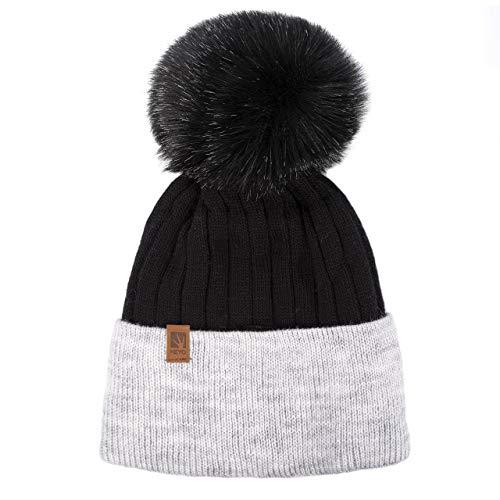 HEYO Damen Mütze mit Bommel | H20007 | Slouch Beanie für Winter | Warme Mütze mit...