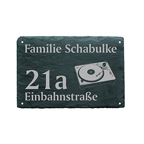 Huisnummer, deurbordje voor plaatjes, naam + straat, afmeting 22 x 16 cm