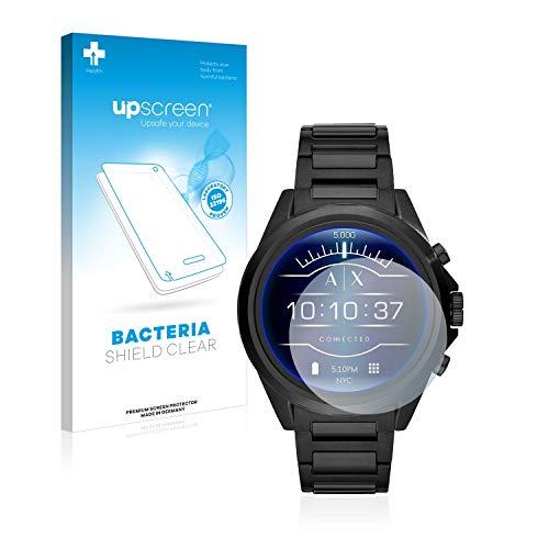 upscreen Antibakterielle Schutzfolie kompatibel mit Emporio Armani Connected Exchange AXT2002 klare Bildschirmschutz-Folie