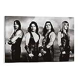 DENGHOU Manowar Band Retro-Musik-Poster und Wandkunstdruck,