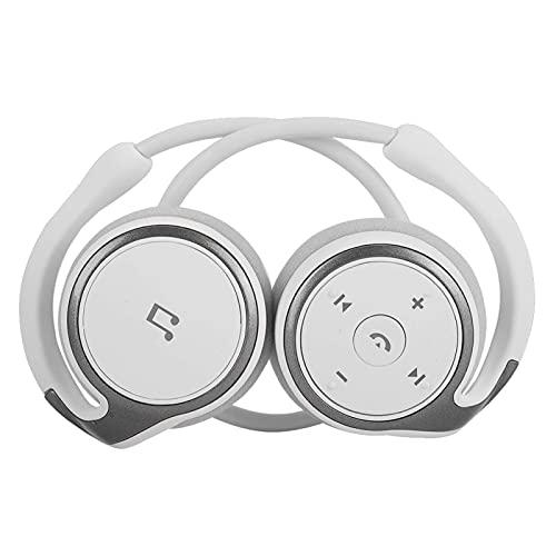 minifinker Auriculares Bluetooth 4.1 con Banda para El Cuello Auriculares Deportivos Inalámbricos, Auriculares Deportivos Bluetooth para Deportes, Ocio Y Viajes (Blanco)
