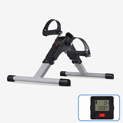 HJRBM Ejercitador de Pedal Plegable para Uso doméstico, Equipo de Bicicleta estática bajo el Escritorio con Pantalla electrónica para Entrenamiento de piernas y Brazos