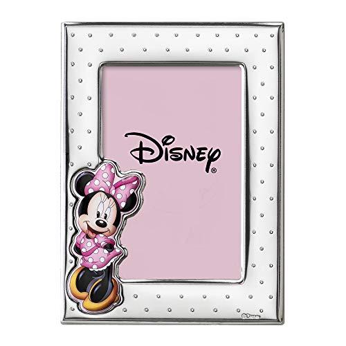 Disney Baby - Bilderrahmen zum Hinstellen - aus Silber mit farbigen Details - Minnie-Maus-Design - perfekt als Geschenkidee zur Taufe oder zum Geburtstag - ideal für das Baby-oder Kinderzimmer