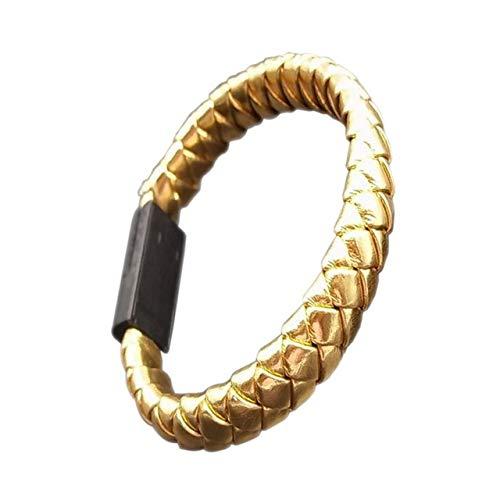DASHUAIGE Armband Handy Datenkabel Geflochtene Armbänder & Amp;Armreifen Für Männer Frauen Punk USB Ladekabel Leder Armband Schmuck