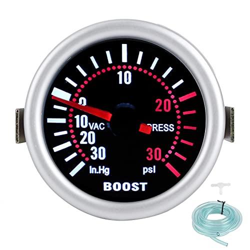 EBTOOLS Turbo Boost Gauge Kit Turbo Boost Gauge 12V 2in Turbo Boost Gauge -30-30PSI Pointer Auto Car Turbo Pressure Meter Juegos de manómetros de repuesto automotrices de alta precisión