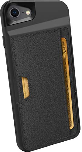 Smartish iPhone 7/8 Wallet Case - Wallet Slayer Vol. 2 [Slim Protective Kickstand] Credit Card Holder for Apple iPhone 8/7 (Silk) - Black Onyx