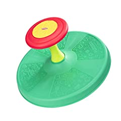 PLAYTIME COMES FULL CIRCLE : Remember when you discovered how to sit, spin, and giggle yourself silly. Well, now it's time for YOUR little one to enjoy the winning spinning fun of this classic sit on spinning activity toy TURN THE FUN LOOSE : The fun...