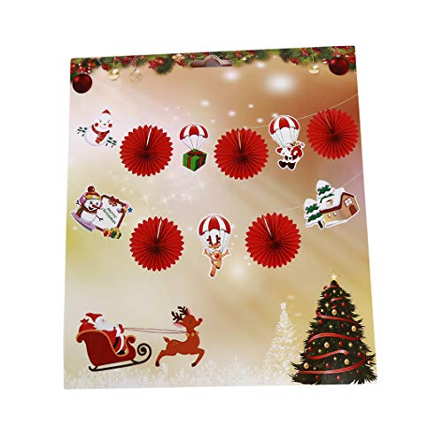 Sperrins Christbaumschmuck Paper Ball Pull Blume Weihnachtsmann Schneemann Anhänger Christbaumschmuck (Farbe 2)