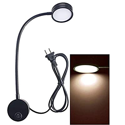 WannaBi Flexible 3 Watts 3W Gooseneck Led Wall Light Sconce Lamp Lighting for Bedroom Reading Bathroom