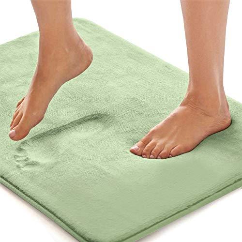 Gorilla Grip Original Thick Memory Foam Bath Rug, 30x20, Cushioned, Soft Floor Mats, Absorbent Premium Bathroom Mat Rugs, Machine Washable, Luxury Plush Comfortable Carpet for Bath Room, Sage