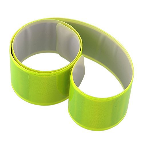 KKTech Reflective Arm Bands High Visibility Safety Gear for Running,Cycling, Walking,Hiking,Jogging-Wearable as Ankle Bands, Armband, Wristbands-Elastic, Lightweight, Adjustable (6PCS Neon Yellow)