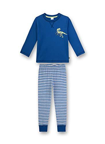 Sanetta Jungen Pyjama lang Zweiteiliger Schlafanzug, Blau (blau 519), (Herstellergröße:104)