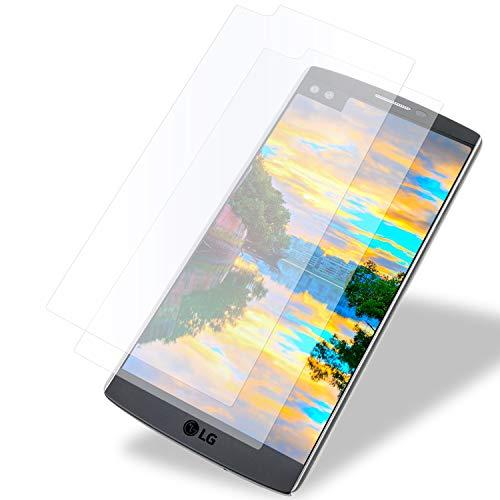 MYCASE 2X Bildschirmschutz Folie für LG V10 | Echt Glas | 0,3 mm Dünn