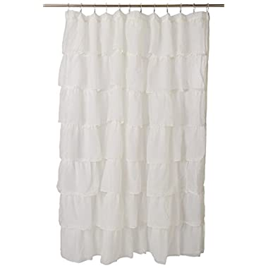Lorraine Home Fashions 08383-SC-00051 Gypsy Shower Curtain, Cream, 70  x 72