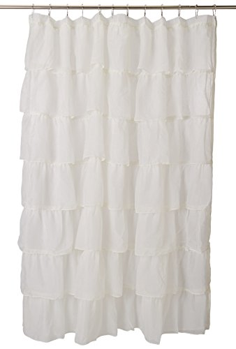 """Lorraine Home Fashions 08383-SC-00051 Gypsy Shower Curtain, Cream, 70"""" x 72"""""""