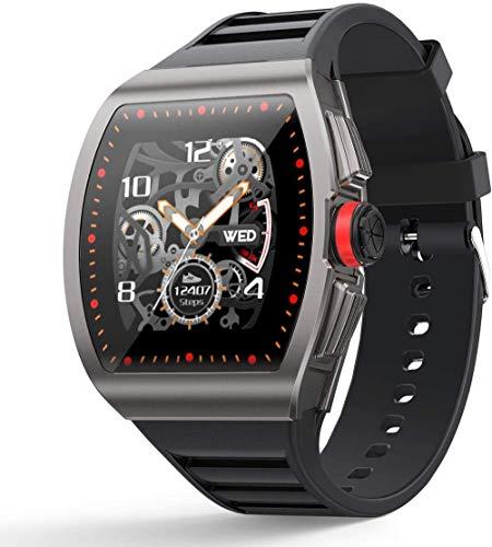 Reloj inteligente de 1.4 pulgadas con pantalla táctil completa] GPS con una calculadora de calorías de presión arterial/frecuencia cardíaca/menstrual ...