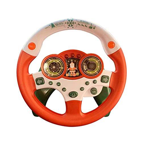 precauti Volante de Juguete de los Coches de Simulación de Conducción Volante Portátil de Conducción Volante de los Niños de Juguete de Son