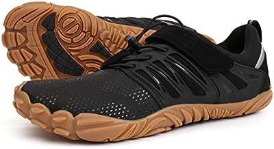 Joomra Women Hiking Minimalist Shoes Trail Running for Ladies Wide Treadmill Trekking Sneakers Size 9-9.5 Female Jogging Gym Antislip Toes Cycling Footwear Black 40