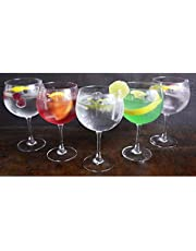 Hogar y Mas - LUMINARC - Copa Combinados 720 ML, Vidrio Gin Tonic, 6 Uds. Vajilla/Menaje, Estilizadas y Elegantes, Basicos Set de 6.
