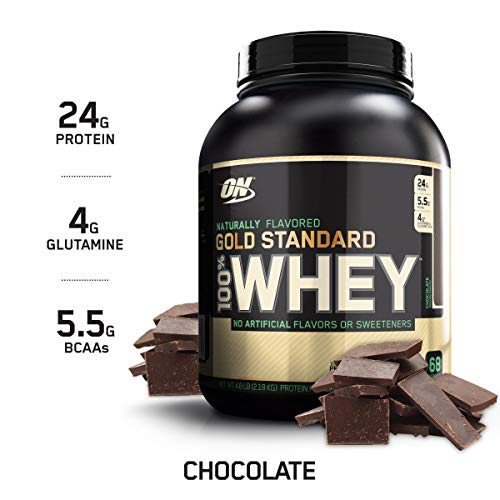 OPTIMUM NUTRITION GOLD STANDARD 100% Whey Protein Powder, Naturally Flavored Chocolate, 4.8 Pound
