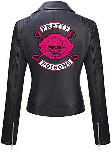 DeColure Chaqueta Southside Serpents de piel sintética para mujer, color negro, de Riverdale Cheryl Blossom Pretty Poisons Jacket de piel vegana (XXS a 3XL)