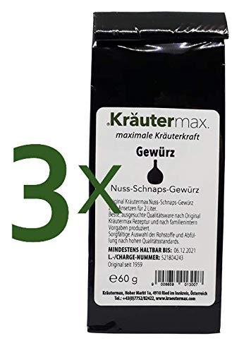 Nuss-Schnaps Gewürz 3 x 60 g für 6 Liter zum Selber Machen