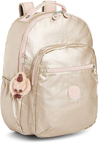 Kipling Women's Seoul GO Small Backpack (Starry Gold Metallic)
