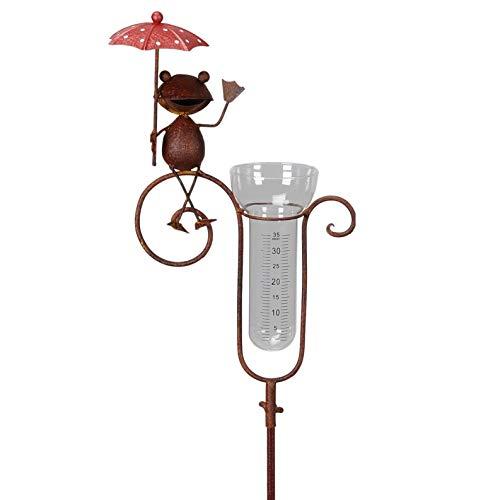 Pommerntraum ® | Niederschlagsmesser - Regenmesser - Pluviometer - Mr Frosch mit Regenschirm - tolle Gartendekoration!