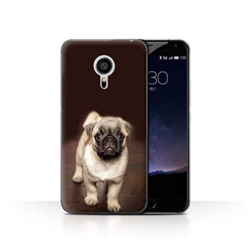 Handy Hülle kompatibel mit Meizu Pro 5 Süß Baby Tier Fotos Netter Mops H& Hündchen Transparent Klar Ultra Dünne Handyhülle Hülle Cover