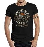 Gasoline Bandit Biker Racer Camiseta Custom Classic Race Team Negro XL