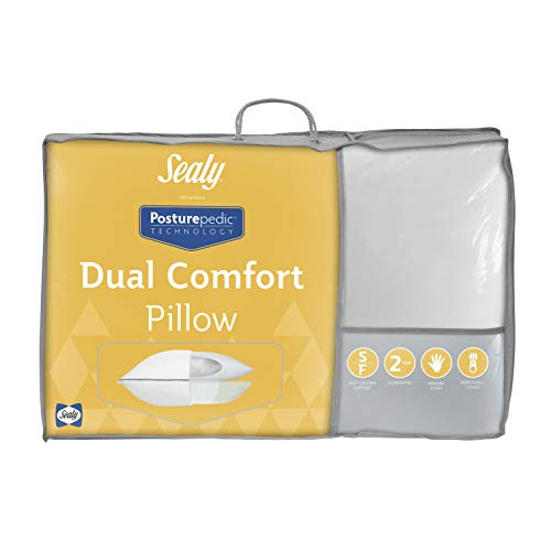 Sealy Posturepedic Dual Comfort Pillow, White, 74 x 48cm