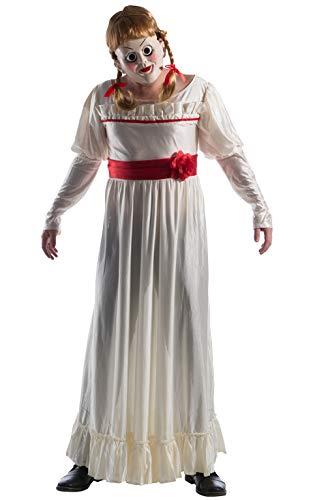 Rubies 821137STD - Disfraz de Annabelle para adultos, estándar (pecho 42-44 pulgadas, cintura 30-34 pulgadas)