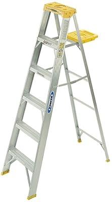 Werner 250-Pound Duty Rating Aluminum Stepladder by Werner Ladder