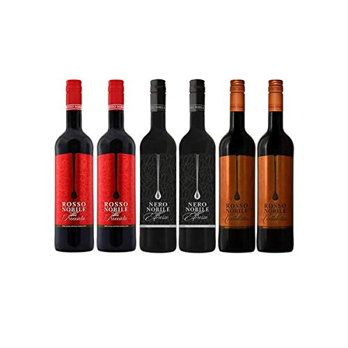 Rotwein Rosso Nobile all'Espresso, Rosso Cioccolata und Rosso Nocciola (6x0,75)