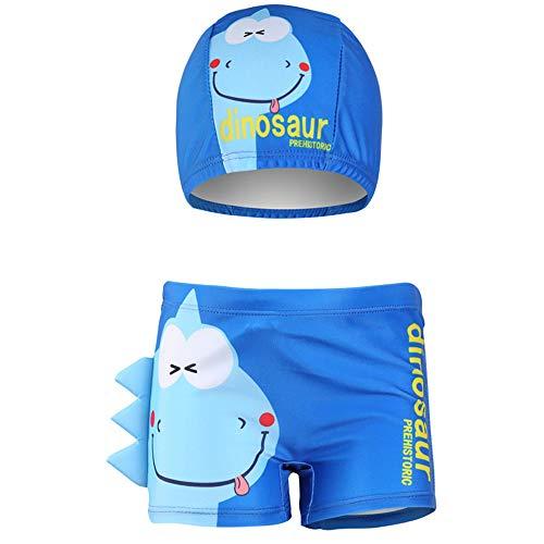 Shorts de baño para niños Troncos de baño para niños pequeños boxeadores de natación para niños Dibujos animados en 3D Disfraz De Dinosaurio Cangrejo Impreso Azul 7-8 Años