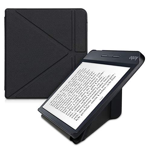 kwmobile Carcasa Compatible con Kobo Libra H2O - Funda Estilo Origami en Negro