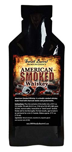 American Smoked Whiskey Essence | Bootleg Kit Refills | Thousand Oaks Barrel Co. | Gourmet Flavors for Cocktails Mixers and Cooking | 20ml .65oz Packet