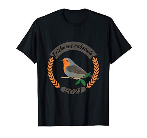 Erithacus rubecula, Rotkehlchen, Vogel des Jahres 2021 T-Shirt