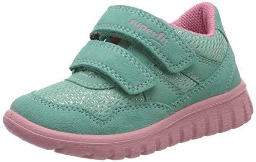 Superfit Baby Mädchen SPORT7 Mini Sneaker, Grün (Grün/Rosa 71), 29 EU