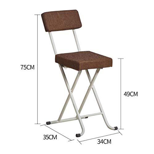 WOZUIMEI Wandleuchte Klappstuhl Tragbare Klappstuhl Hocker Stuhl Hocker Computer Stuhl Einfache Outdoor Stuhl, EIN
