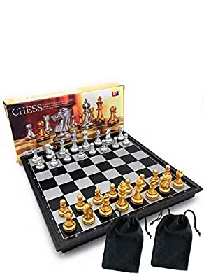 Chess Pro Chess Set, Magnetic Chess Set, Chess Board, Chess Pieces, Chess Sets for Adults Board Games 9.7 Inches