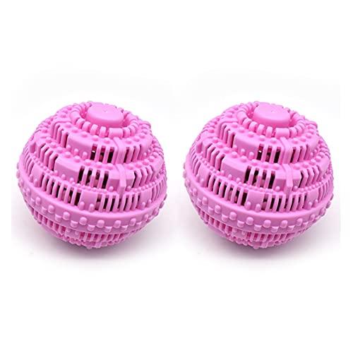Bola de lavandería, bola de lavandería para lavadora, bola de cerámica ecológica de alta calidad, bola de lavandería 2000 ciclos de lavado, detergente totalmente natural (2 piezas)