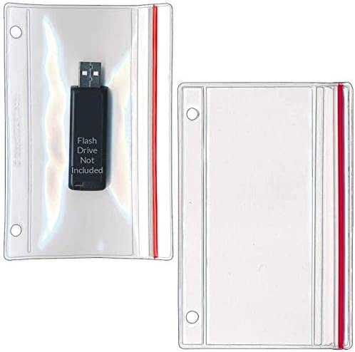 StoreSMART Flash Drive Zipper Case for 3 Ring Binders 5 Pack Vinyl Plastic R1831 FLASH5 product image