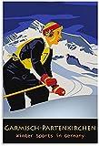 Hatytoyu Garmisch Partenkirchen Ski Poster Dekorative