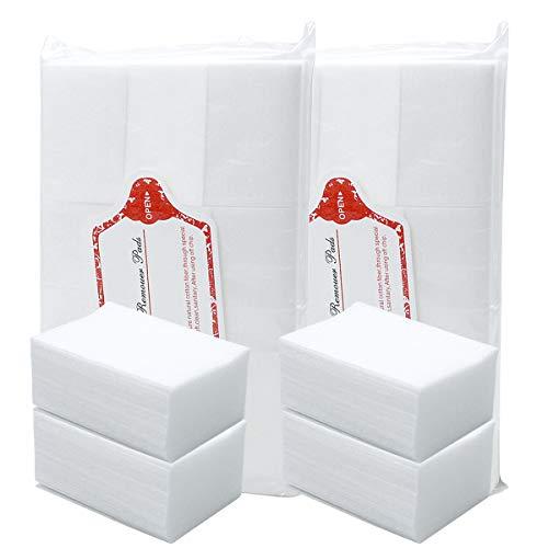 800 Piezas Almohadillas de Algodón de Limpieza de Uña, Sin Pelusas Toallitas para Uñas, Toallitas Libres de Pelusa, Toallas Quitaesmalte Uñas Algodon Celuloso Uñas