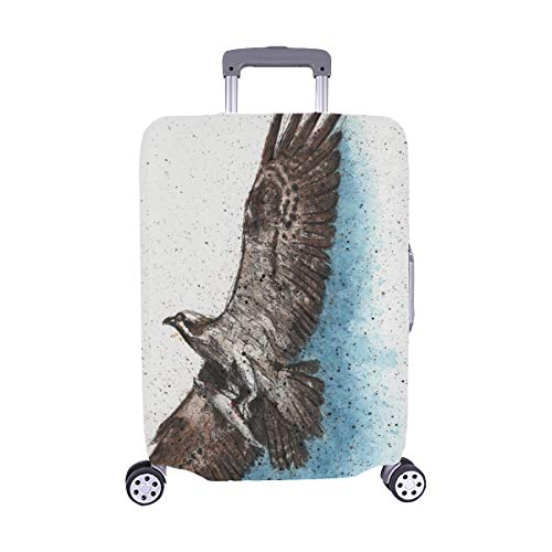 (Solo Cubrir) Osprey Fish Osprey Flying Recién Atrapado Trolley Maleta de Viaje Maleta Protectora de Viaje Cubierta Protectora para 28.5 X 20.5 Inch