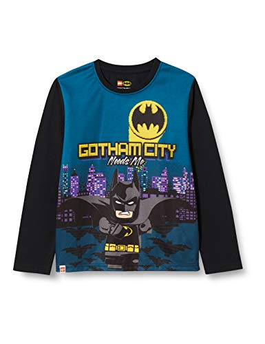 LEGO Jungen MW-Langarmshirt Batman T-Shirt, 995 Black, 110