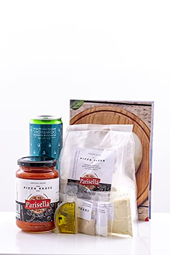 Parisella Pizza Bella Artisan At-Home Pizza Making Kit for Authentic...