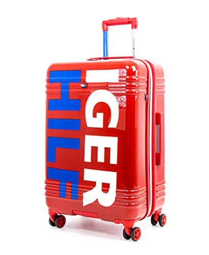 Tommy Hilfiger Mondo Expandable Hardside Spinner Luggage, Red, 24 Inch
