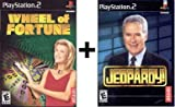 2 Game Combo - Wheel Of Fortune + Jeopardy Playstation 2 PSX